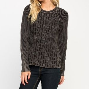RVCA Size XL Chained Knit Sweater Cable Knit